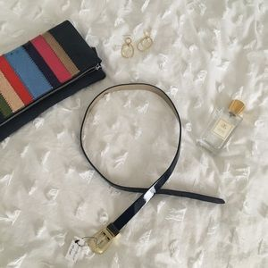 Navy patent belt from WHBM, Size S